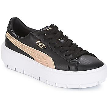 Încăltăminte Femei Pantofi sport Casual Puma WN PLATFORM TRACE BSQT.BLK Black