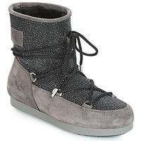 Pantofi Femei Cizme de zapadă Moon Boot FAR SIDE LOW SUEDE GLITTER Negru / Gri