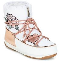 Pantofi Femei Cizme de zapadă Moon Boot PEACE & LOVE WP Alb / Roz / Gold