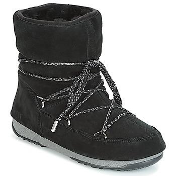 Pantofi Femei Cizme de zapadă Moon Boot LOW SUEDE WP Negru