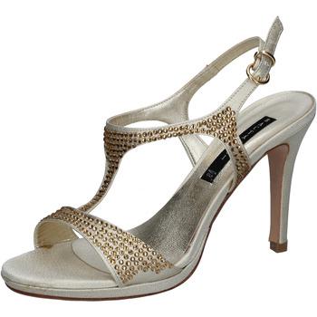 Pantofi Femei Sandale  Bacta De Toi sandali platino raso strass BY95 Altri