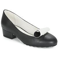 Pantofi Femei Balerin și Balerini cu curea Lola Ramona ALICE Negru / Alb