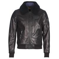 Îmbracaminte Bărbați Jachete din piele și material sintetic Redskins COMMANDER STRIKING Negru