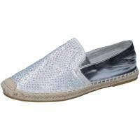 Pantofi Femei Mocasini Sara Lopez espadrillas argento tessuto strass BY241 Argento