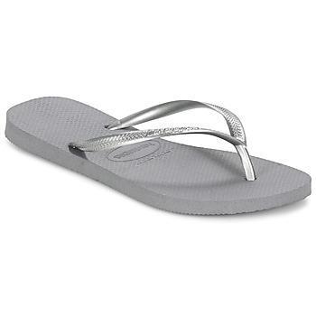 Pantofi Femei  Flip-Flops Havaianas SLIM Gri / Metal