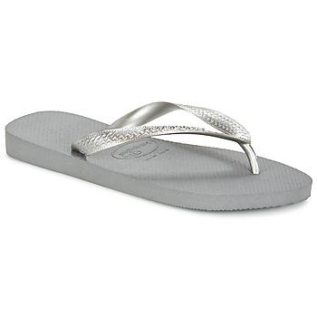 Pantofi Femei  Flip-Flops Havaianas TOP METALLIC Gri / Metal
