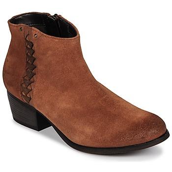 Pantofi Femei Botine Clarks MAYPEARL Dark / Tan / Suede