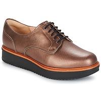 Pantofi Femei Pantofi Derby Clarks TEADALE Dark / Tan / Lea