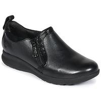 Pantofi Femei Pantofi Derby Clarks Un Adorn Zip Black / Combi