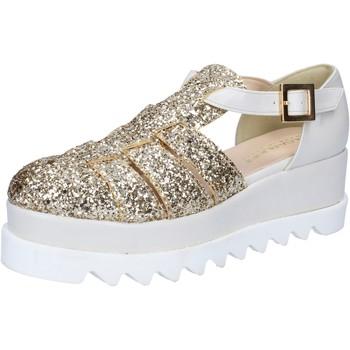 Pantofi Femei Sandale  Olga Rubini sandali platino glitter pelle BY337 Altri