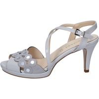 Pantofi Femei Sandale  Olga Rubini sandali grigio vernice camoscio BY358 Grigio