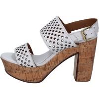 Pantofi Femei Sandale  Shocks sandali bianco pelle BY394 Bianco