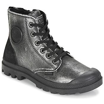 Pantofi Femei Ghete Palladium PAMPA HI Negru / Argintiu