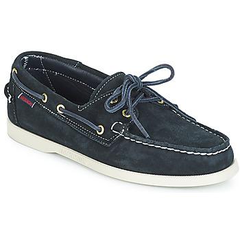 Pantofi Bărbați Pantofi barcă Sebago DOCKSIDES SUEDE Bleumarin