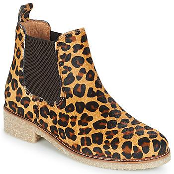 Pantofi Femei Ghete Bensimon BOOTS CREPE Leopard