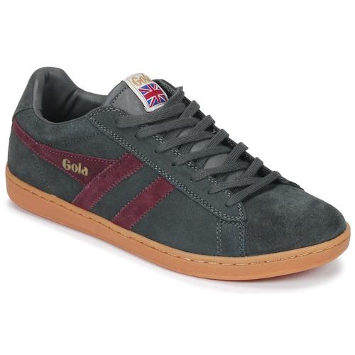 Pantofi Bărbați Pantofi sport Casual Gola Equipe Suede Gri / Bordo