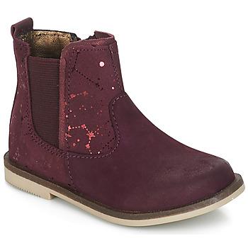 Pantofi Fete Ghete Kickers MOON Roșu-bordeaux