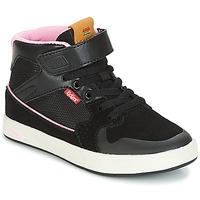 Pantofi Fete Pantofi sport stil gheata Kickers GREADY MID CDT Negru / Roz
