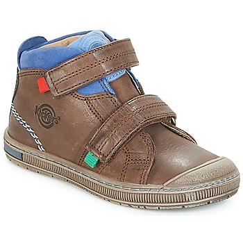 Pantofi Băieți Pantofi sport stil gheata Kickers IGUTO Maro
