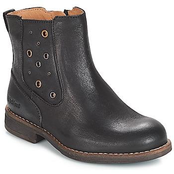 Pantofi Fete Cizme casual Kickers SMAD Negru