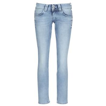 Îmbracaminte Femei Jeans drepti Pepe jeans VENUS Albastru / LuminoasĂ