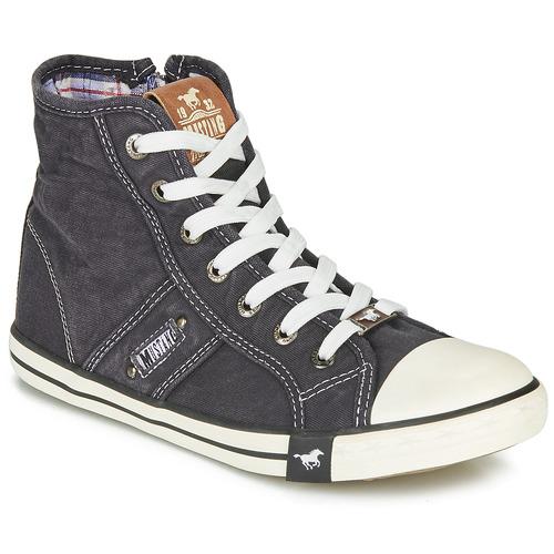 Pantofi Femei Pantofi sport stil gheata Mustang GALLEGO Negru