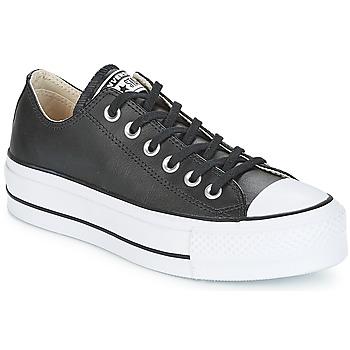 Încăltăminte Femei Pantofi sport Casual Converse CHUCK TAYLOR ALL STAR LIFT CLEAN OX Negru / Alb