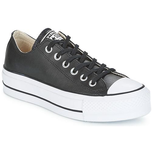 Pantofi Femei Pantofi sport Casual Converse CHUCK TAYLOR ALL STAR LIFT CLEAN OX Negru / Alb