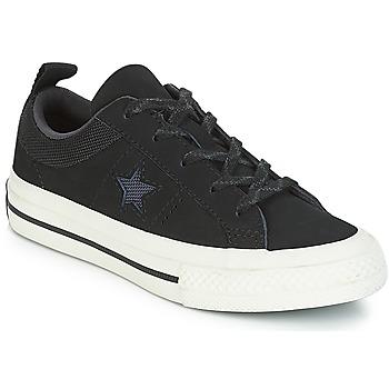 Pantofi Copii Pantofi sport Casual Converse ONE STAR NUBUCK OX Negru / Alb