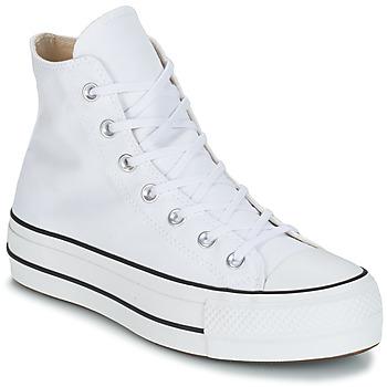 Pantofi Femei Pantofi sport stil gheata Converse CHUCK TAYLOR ALL STAR LIFT CANVAS HI Alb