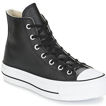 Pantofi Femei Pantofi sport stil gheata Converse CHUCK TAYLOR ALL STAR LIFT CLEAN LEATHER HI Negru