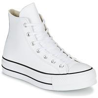 Pantofi Femei Pantofi sport stil gheata Converse CHUCK TAYLOR ALL STAR LIFT CLEAN LEATHER HI Alb