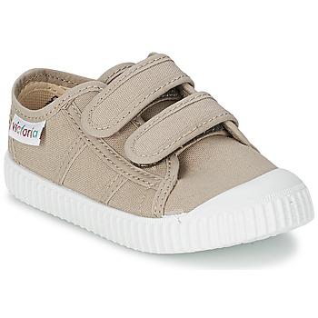 Încăltăminte Copii Pantofi sport Casual Victoria BLUCHER LONA DOS VELCROS Bej