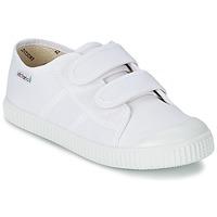 Încăltăminte Copii Pantofi sport Casual Victoria BLUCHER LONA DOS VELCROS Alb
