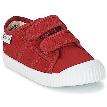 Încăltăminte Copii Pantofi sport Casual Victoria BLUCHER LONA DOS VELCROS Karminowy