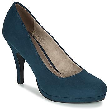 Încăltăminte Femei Pantofi cu toc Tamaris VALUI Bleumarin