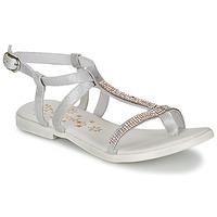 Încăltăminte Fete Sandale și Sandale cu talpă  joasă Acebo's MADALEN Argintiu