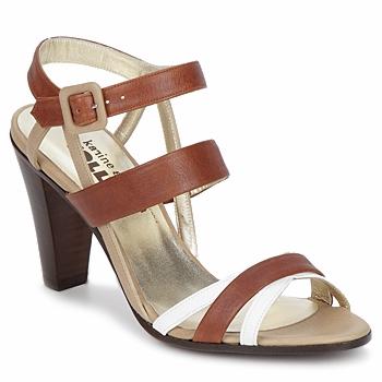 Pantofi Femei Sandale  Karine Arabian JOLLY Coniac / Bej / Alb