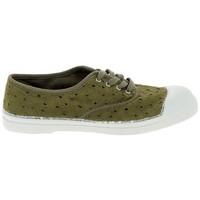 Pantofi Femei Tenis Bensimon Toile Lacet Kaki verde
