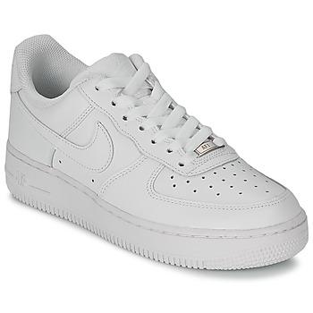 Pantofi Femei Pantofi sport Casual Nike AIR FORCE 1 07 LEATHER W Alb