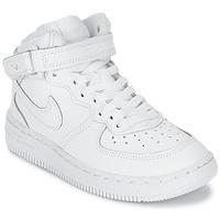 Încăltăminte Copii Pantofi sport stil gheata Nike AIR FORCE 1 MID Alb