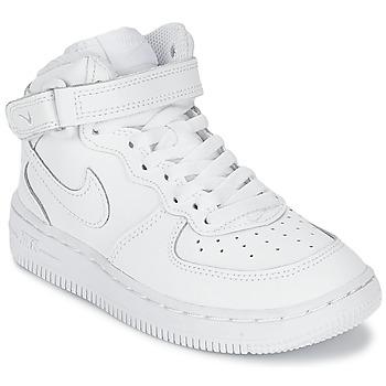 Pantofi Copii Pantofi sport stil gheata Nike AIR FORCE 1 MID Alb
