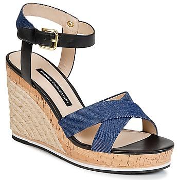 Pantofi Femei Sandale și Sandale cu talpă  joasă French Connection LATA Albastru / Denim