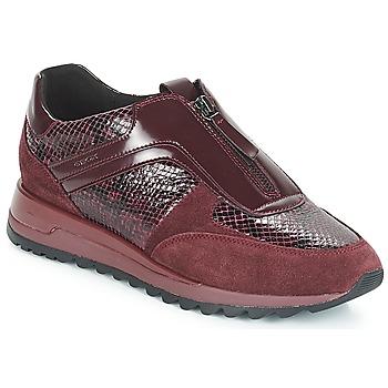 Încăltăminte Femei Pantofi sport Casual Geox D TABELYA Roșu-bordeaux