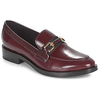 Pantofi Femei Mocasini Geox DONNA BROGUE Bordo / Negru
