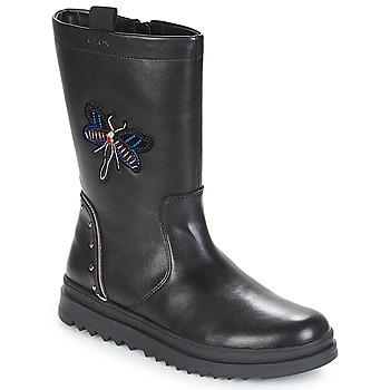 Pantofi Fete Cizme casual Geox J GILLYJAW GIRL Negru