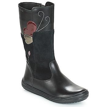 Pantofi Fete Cizme casual Geox J HADRIEL Negru
