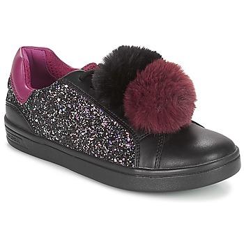 Pantofi Fete Pantofi sport Casual Geox J DJROCK GIRL Negru / Violet