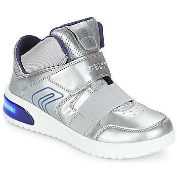 Încăltăminte Fete Pantofi sport stil gheata Geox J XLED GIRL Argintiu