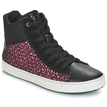 Încăltăminte Fete Pantofi sport stil gheata Geox J KALISPERA GIRL Negru / Roz
